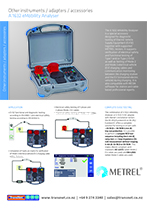 Metrel A1632 eMobility Analyser Ang TN Details-cover