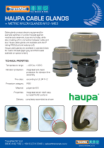 Haupa Nylon Cable Glands cover