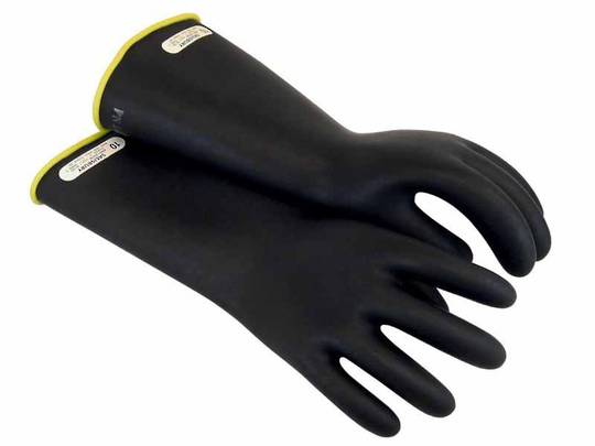 Class 1 Rubber Insulating Gloves - Up To 10,000V