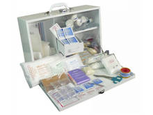 6-25 Person First Aid Kit in Metal Cabinet