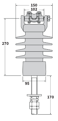 11kV Post Insulator - Clamp-642-988